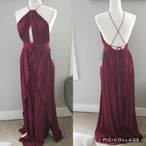 NWT Burgundy Lulus Bridesmaid Dress